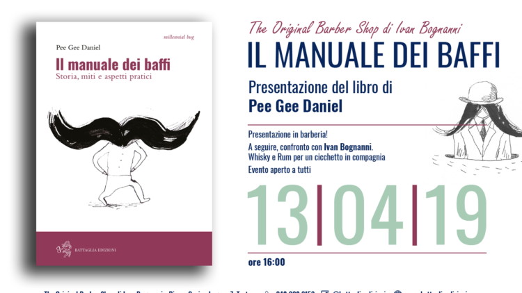 "Presentazione de ""Il Manuale dei Baffi"" al The Original Barber Shop (Tortona)"