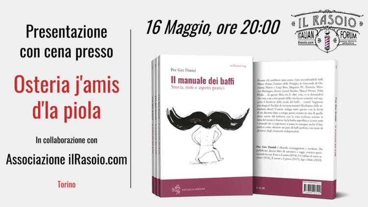 Presentazione con cena de Il Manuale dei Baffi a Torino