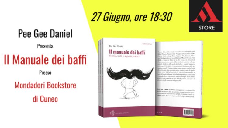 Presentazione de Il manuale dei baffi alla Mondadori Bookstore di Cuneo
